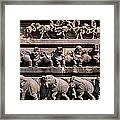 Carving On The Wall Of A Temple Framed Print