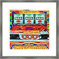 Casino Slot Machine . One Arm Bandit . Triple Bar Bonus Jack Pot Framed Print by Wingsdomain Art and Photography