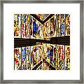 Cathedral Window Montage Framed Print