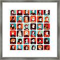 Celebrities Framed Print