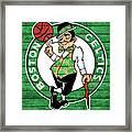 Celtics Barn Door Framed Print