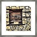Cement Factory Window Framed Print