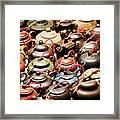 Ceramic Teapots Framed Print