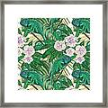 Chameleons And Camellias  Framed Print