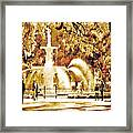 Champagne Twilight Forsyth Park Fountain In Savannah Georgia Usa  Framed Print