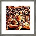 Chaos After The News Framed Print