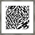 Chaos Maze Optical Illusion Framed Print