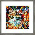 Charming Cat Framed Print