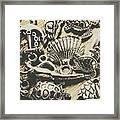 Charming Seashore Symbols Framed Print