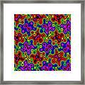 Cheerios Pattern Wave Framed Print