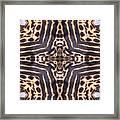 Cheetah Cross Framed Print