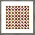 Chic Seamless Tile Pattern Framed Print