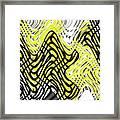 Chicken Scratch Abstract Framed Print