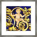 Child In Blue And Gold Framed Print