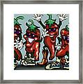 Chili Peppers Gang Framed Print