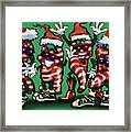 Christmas Candy Peppers Gang Framed Print