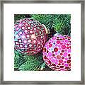 Christmas Dots No. 1-1 Framed Print