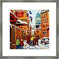 Church Street In Winter Framed Print
