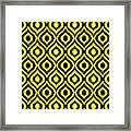 Circle And Oval Ikat In Black N05-p0100 Framed Print