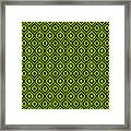 Circle And Oval Ikat In Black N09-p0100 Framed Print
