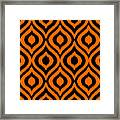 Circle And Oval Ikat In Black T03-p0100 Framed Print