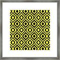 Circle And Oval Ikat In Black T05-p0100 Framed Print