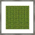 Circle And Oval Ikat In Black T09-p0100 Framed Print