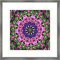 Circle Of Flowers Framed Print