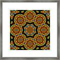 Circled Floral Mandala Framed Print
