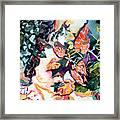 Circling Leaves Framed Print