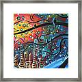 City By The Sea By Madart Framed Print by Megan Duncanson