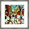 City Of Montreal Hockey Our National Pastime Framed Print