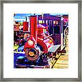 Classic Calico Train Framed Print