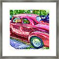 Classic Red Vintage Car Framed Print