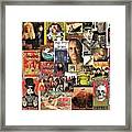 Classic Rock 2 Collage Framed Print