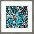 Clematis In Blue Fantasia Framed Print