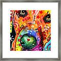 Close Up Lab Warpaint Framed Print by Dean Russo