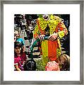 Clown Entertaining Kids Framed Print