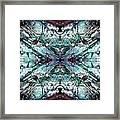 Coastal Rocks Brillig Turquoise Kaleidoscope Effect Framed Print
