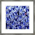 Coca-cola Coke Bottles - Return For Refund - Square - Painterly - Blue Framed Print
