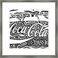 Coca-cola Maze Advertisement  Framed Print
