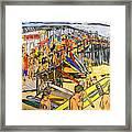 Cocoa Beach Pier/surf Festavil Framed Print