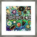 Coexisting With Coffee And Donuts Framed Print