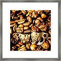 Coffee Shop Companions  Framed Print