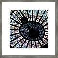 Collectible Stained Glass Tiffany Dome Framed Print