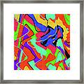 Color Drawing Abstract #3 Framed Print