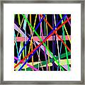 Color Lines Variety Background Framed Print