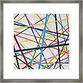 Color Lines Variety Framed Print