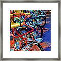 Color Of Bikes Framed Print