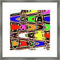 Color Wave Abstract Framed Print